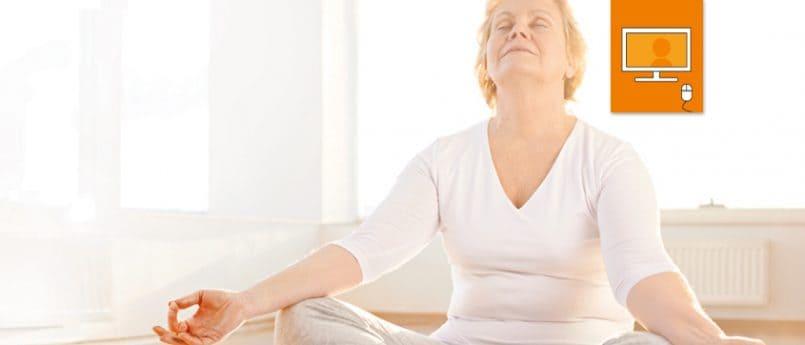 woman doing meditation