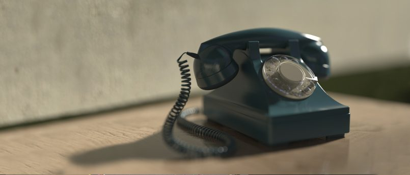 isolation and cancer - photo of a telephone