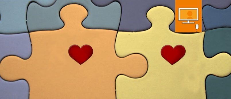 puzzle pieces with hearts