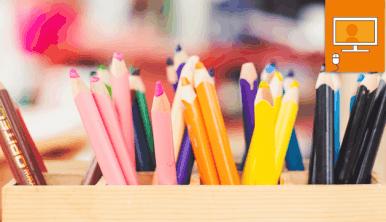 color pencils in holder
