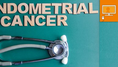 endometrial cancer words and stethescope